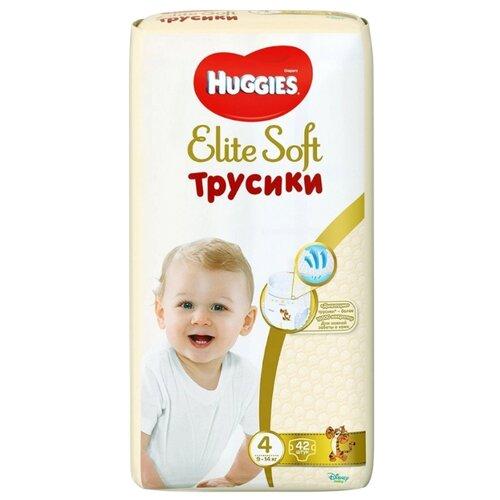 Купить Huggies Elite Soft трусики 4 (9-14 кг) CN, 42 шт., Подгузники