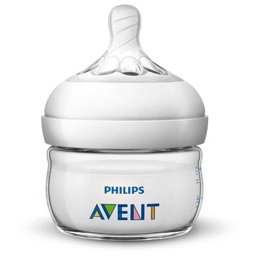 Купить Philips AVENT Бутылочка полипропиленовая Natural SCF039/17, 60 мл с рождения, белый, Бутылочки и ниблеры