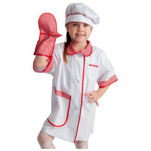 Купить Костюм ВИНИ Повар ВК-61023, белый, размер 122-128, Карнавальные костюмы