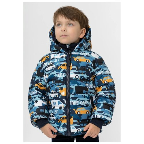 Купить Куртка Button Blue 220BBBMC41031013 размер 104, синий, Куртки и пуховики