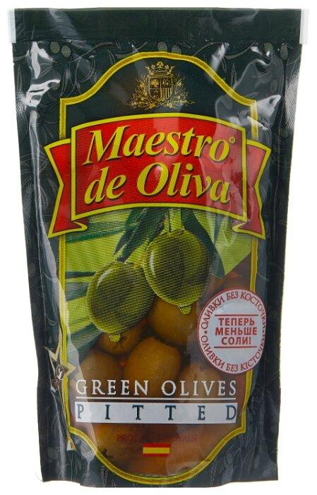 Maestro De Oliva Оливки в рассоле без косточки, пластиковый пакет 170 г