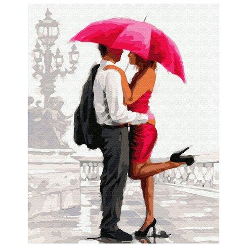 Купить Картина по номерам ВанГогВоМне ZX 22726 Свидание под красным зонтом 40х50 см, Картины по номерам и контурам