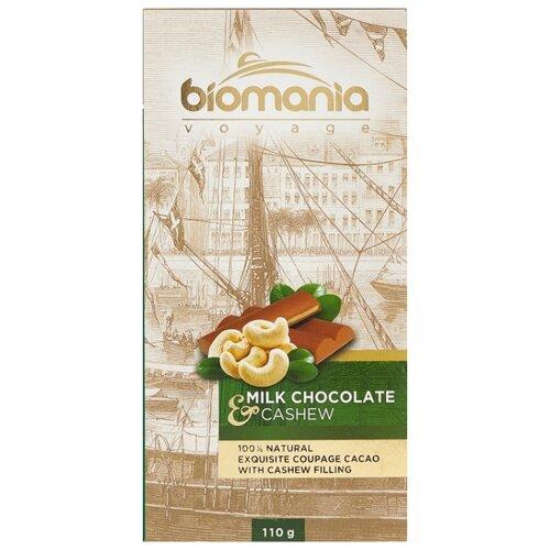 Шоколад Biomania молочный с урбечом из кешью, 110 г шоколад chokodelika молочный с кешью 80 г