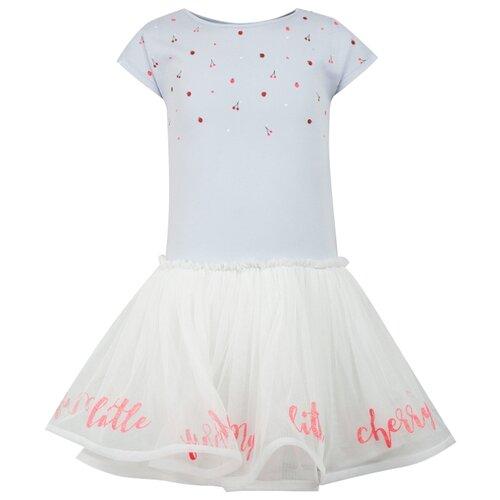 Платье Billieblush размер 92, голубой/белый