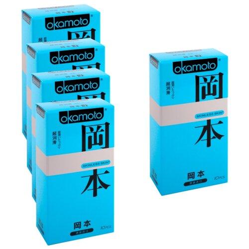 Презервативы Okamoto Skinless Skin Super Lubricated (5 уп. по 10 шт.)