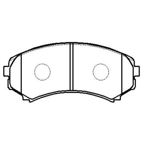 Фото - Дисковые тормозные колодки передние HONG SUNG BRAKE HP5134 для Mitsubishi Pajero, Mitsubishi Montero (4 шт.) дисковые тормозные колодки передние hong sung brake hp5010 для toyota land cruiser 4 шт