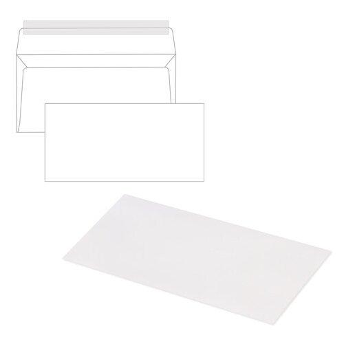 Купить Конверты Е65 (110х220 мм), отрывная лента, 80 г/м2, КОМПЛЕКТ 1000 шт., Ряжская печатная фабрика