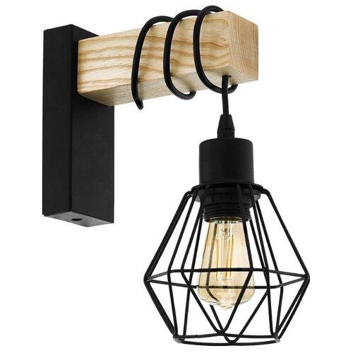 Настенный светильник Eglo Townshend 43135, 60 Вт люстра eglo townshend 33165 e27 360 вт