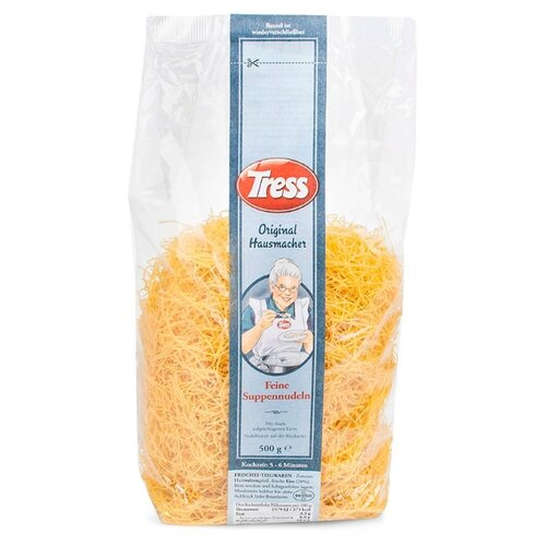 цены Tress Лапша Feine Suppennudeln яичная мелкая для супа, 500 г