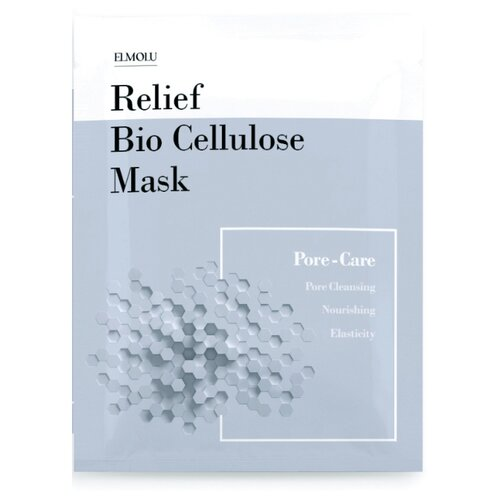 ELMOLU тканевая маска для ухода за порами Relief Bio Cellulose Mask Pore-Care, 28 г