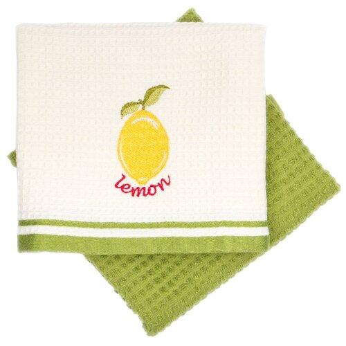 Фото - Arya Набор полотенец Olive Лимон кухонное 40х60 см экрю, зеленый коврик arya dayna trk111300021076 40х60 см серый