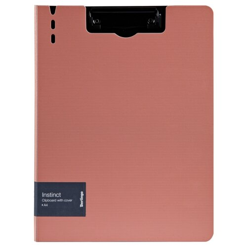 Купить Berlingo Папка-планшет с зажимом Instinct A4, полифом фламинго/черный, Файлы и папки