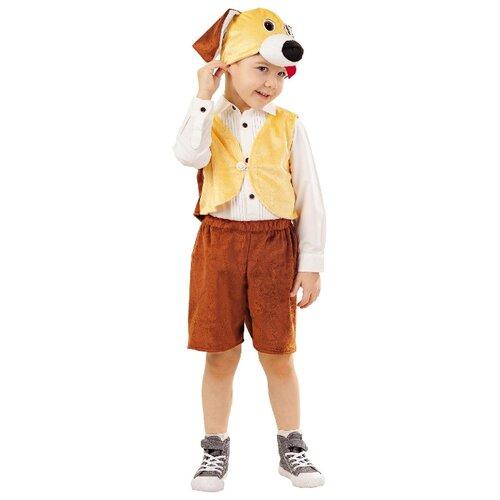 Купить Костюм пуговка Песик Тобик (4007 к-18), коричневый/бежевый, размер 110, Карнавальные костюмы