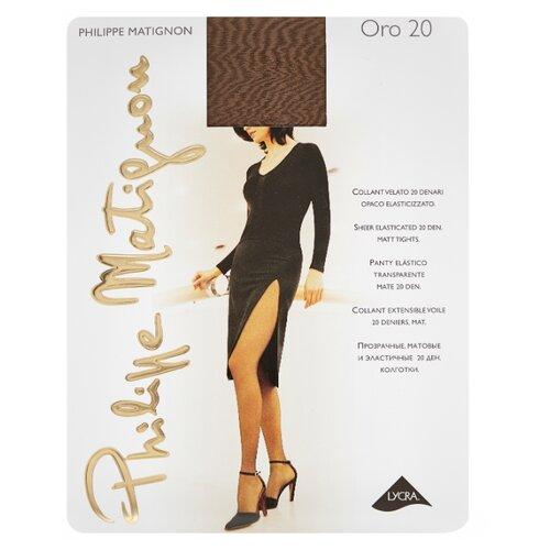 Колготки Philippe Matignon Oro 20 20 den, размер 5-MAXI-XL, glace (коричневый) колготки philippe matignon cristal 30 den размер 5 maxi xl glace бежевый