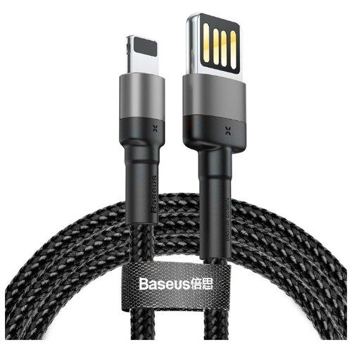 Кабель Baseus Cafule USB - Lightning (CALKLF-H) 2 м черный/серый кабель baseus cafule special edition usb lightning calklf 0 5 м красный черный