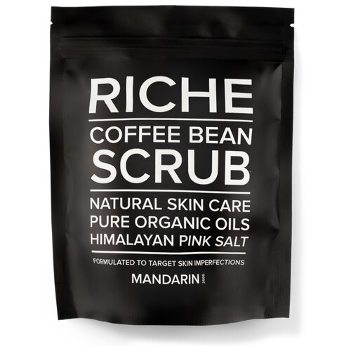 RICHE Кофейный скраб для тела Mandarin, 250 г riche кофейный скраб для тела pure beans 250 г