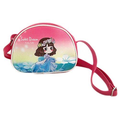 Сумка кросс-боди Наша игрушка Крошка-мечтательница (635789), текстиль, розовый игрушка