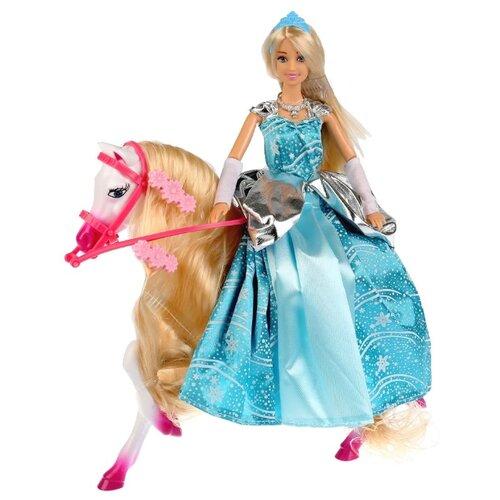 Кукла Карапуз София Снежная принцесса с лошадкой, 29 см, 99106-19-S-AN