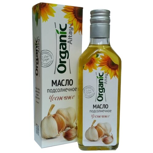 Organic Life Масло подсолнечное Чесночное Organic Altay 0.25 л