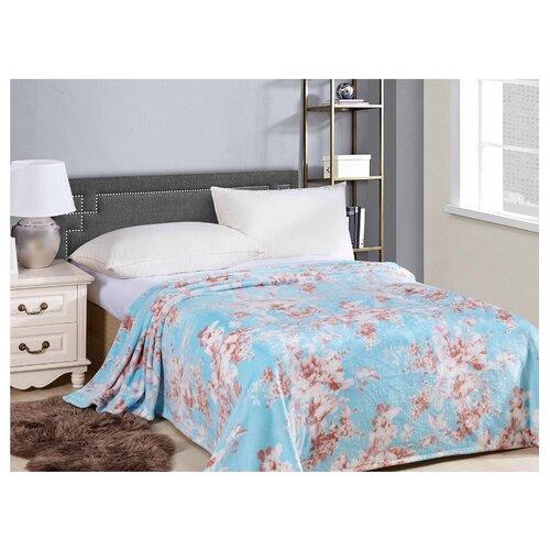 Плед Cleo Калифорния 180х200 см, голубой/коричневый костюм домашний cleo cleo mp002xw1h0vu