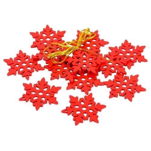 Набор елочных игрушек Breitner 73-1332/73-1293, красный, 12 шт. по цене 1 378