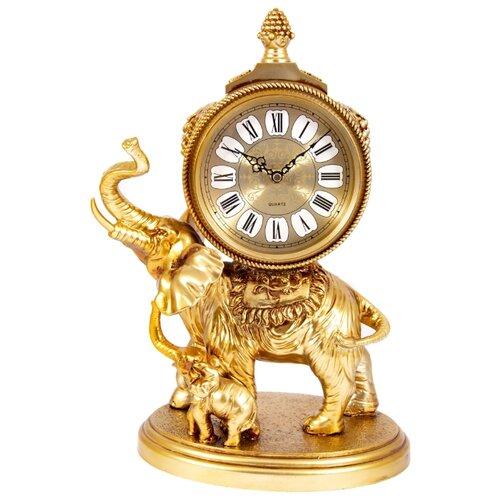 Часы каминные Русские подарки Слон золотистый
