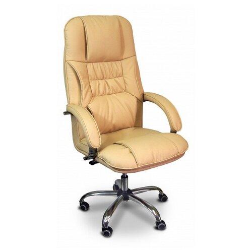 цена на Компьютерное кресло Креслов Бридж КВ-14-131112 для руководителя, обивка: искусственная кожа, цвет: кофейный