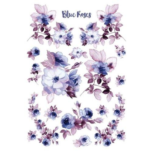 Купить Бумага рисовая мини - формат Голубые розы 21 х 29, 7 см (A4) 1 лист, Stamperia, Карты, салфетки, бумага