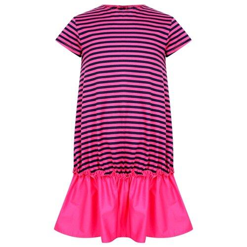 Платье Il Gufo размер 116, розовый/полоска