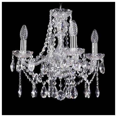 Люстра Bohemia Ivele Crystal 1413 1413/4/141/Ni, E14, 160 Вт люстра bohemia ivele crystal 1413 1413 6 141 g leafs e14 240 вт