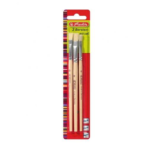 Купить Кисти для рисования Herlitz арт.8644155 набор 3 шт. №8, 10, 12 из щетины