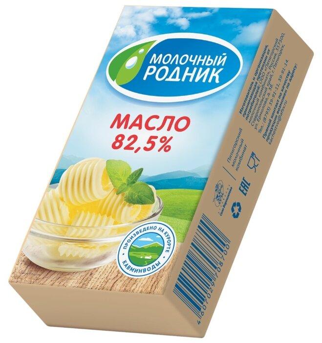 Молочный родник Масло сливочное 82.5%, 180 г