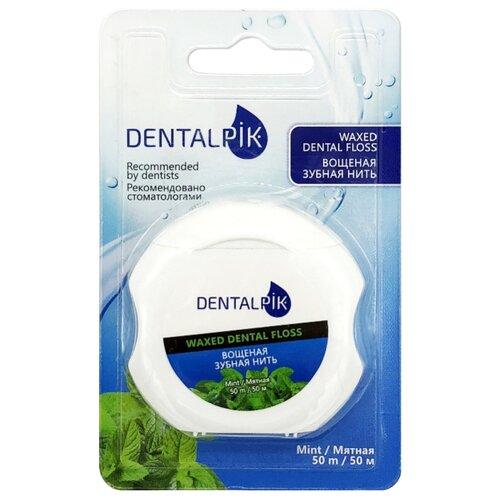 Dentalpik зубная нить Мятная вощеная рокс нить зубная флосс н тосс мятная вощеная 40шт