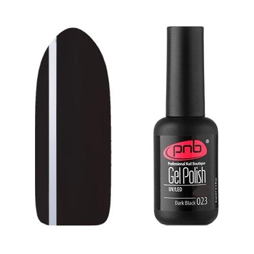 Купить Гель-лак для ногтей PNB Основная коллекция, 8 мл, 023 Dark Black