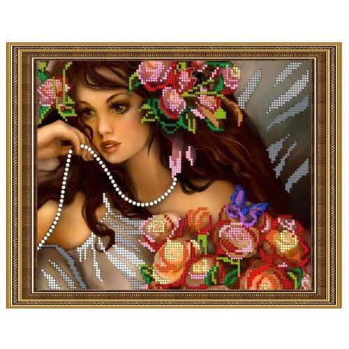 Светлица Набор для вышивания бисером Нежная фея 24 х 19 см, бисер Чехия (160)