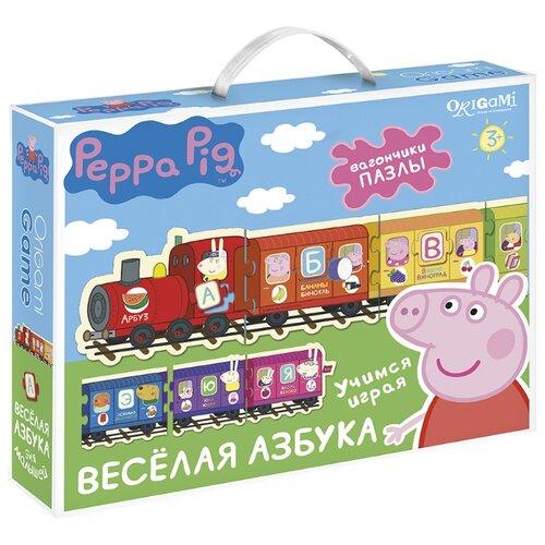 Купить Настольная игра Origami Peppa Pig. Паровозик. Веселая Азбука, Настольные игры