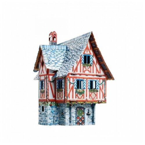 Купить Умная бумага 3D пазл - серия Средневековый город - Дом купца (зима) 21 деталь 379-2, Умная Бумага, Пазлы