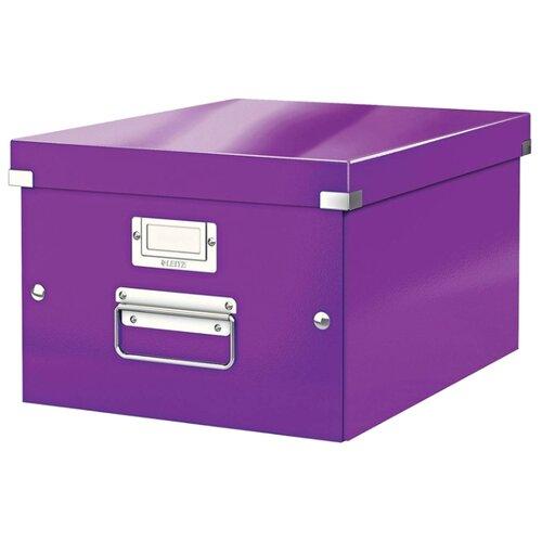 Купить Leitz Короб архивный Click & store WOW M А4, ламинированный картон фиолетовый, Файлы и папки
