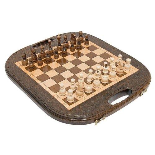 Haleyan Шахматы + нарды резные Овальные 40