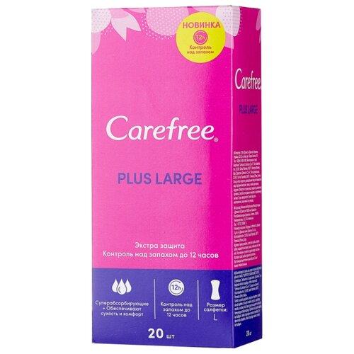 цена на Carefree прокладки ежедневные Plus Large без запаха 20 шт.