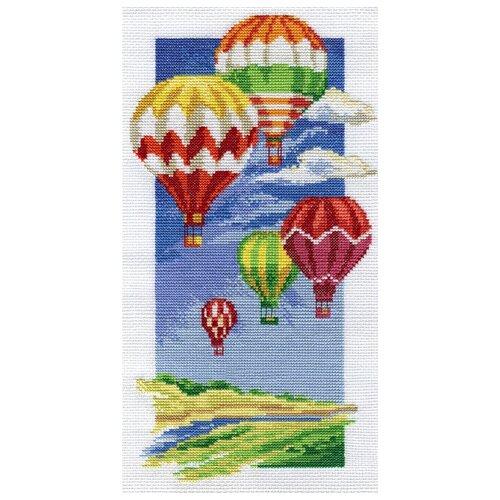 PANNA Набор для вышивания Воздушные шары 16 х 30 см (ПР-0531/PR-0531) 0 pr на 100