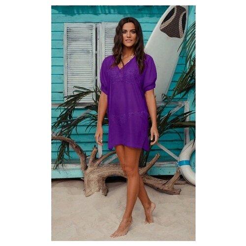 Пляжная туника Laete размер XL(50) фиолетовый