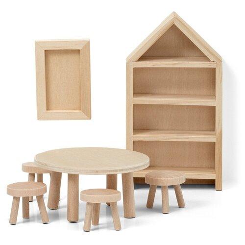 Купить Lundby Набор мебели для кукольного домика Сделай сам Столовая (LB_60906300) натуральный, Мебель для кукол