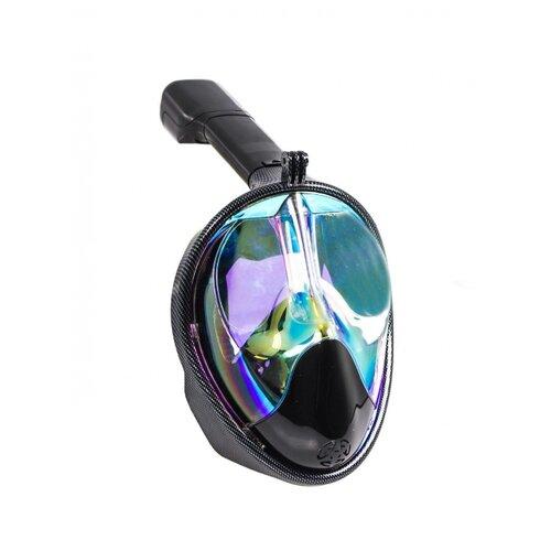 Набор для плавания BRADEX полнолицевой затемненный, размер L/ХL черный