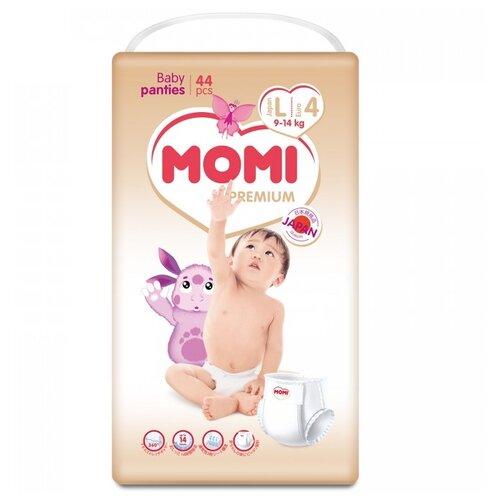 Momi трусики Premium New L (9-14 кг) 44 шт. momi трусики m 6 10 кг 44 шт