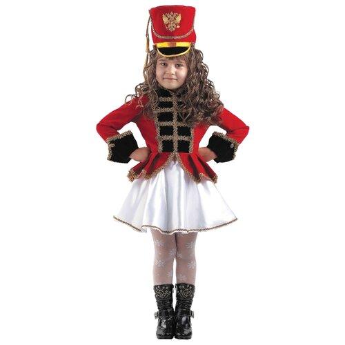 Купить Костюм Батик Мажоретка (448), белый/красный, размер 128, Карнавальные костюмы