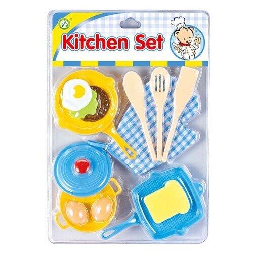 Купить Набор продуктов с посудой S+S Toys 100980136 голубой/желтый, Игрушечная еда и посуда