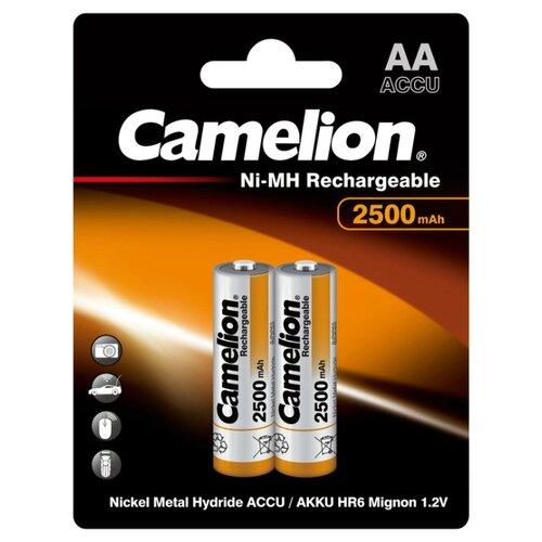 Аккумулятор Ni-Mh 2500 мА·ч Camelion NH-AA2500 2 шт блистер аккумулятор aa camelion 1 2v 2300mah ni mh bl 2 nh aa2300bp2 2 штуки 5221