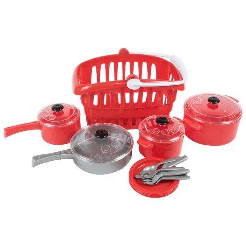 Купить Набор посуды Orion Toys Кристинка 2 158 красный, Игрушечная еда и посуда