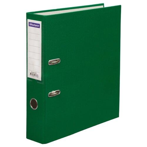 Купить OfficeSpace Папка-регистратор с карманом на корешке A4, бумвинил, 70 мм зеленый, Файлы и папки